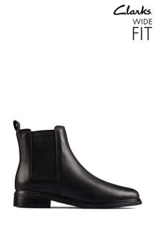 Clarks Black Clarkdale Arlo Boots