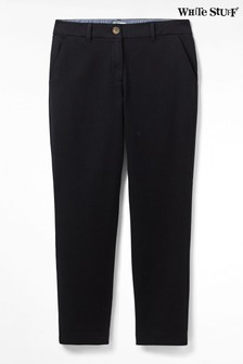 White Stuff Black Sussex Stretch Trousers