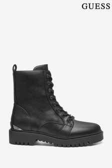 Guess Black Omala Leather Boots