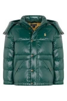 Boys Green Padded Jacket