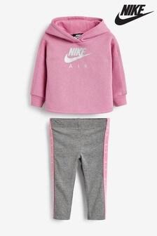 Nike Infant Pink/Grey Air Hoody And Legging Set