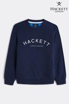 Hackett Older Boys Logo Crew Sweatshirt