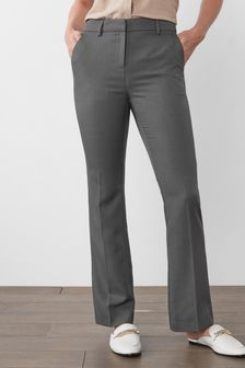 Charcoal Boot Cut Trousers