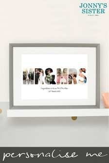 Personalised Mr And Mrs Photo Print Frame by Jonny's Sister