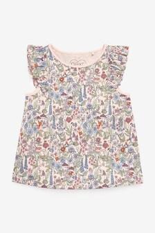 Pink Floral Frill Vest (3mths-8yrs)