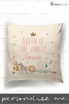 Personalised Queen Of The Jungle Cushion by Loveabode
