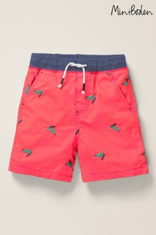 Mini Boden Red Fun Holiday Shorts
