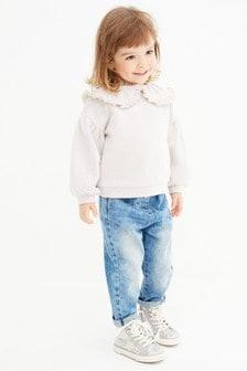 Pink Sparkle Collar Sweatshirt (3mths-7yrs)