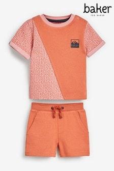 Baker by Ted Baker Colourblock T-Shirt ANd Shorts Set