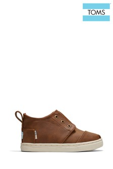 TOMS Tiny Botas Microsuede Cupsole Trainers