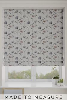 Izzy Blush Pink Made To Measure Roman Blind