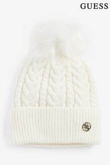 Guess Cable Knit Pom Hat