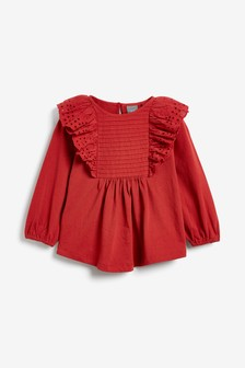 Rust Broderie Blouse (3mths-7yrs)