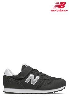 New Balance Black 373 Velcro Strap Junior Trainers