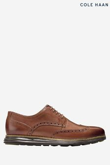 Cole Haan Brown Original Grand Wingtip Oxford Lace-Up Shoes