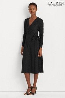 Lauren Ralph Lauren® Black Metallic Stretch Ivy Evening Dress