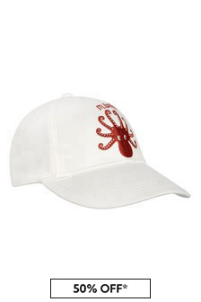 Girls Ivory Octopus Cap