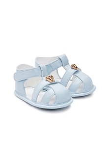 Baby Boys Blue Leather Sandals