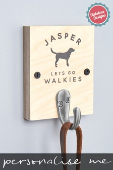 Personalised One Dog Lead Hook by Oakdene