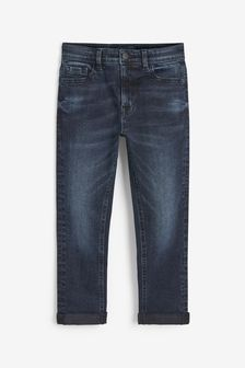 Inky Blue Tapered Fit Five Pocket Jeans (3-16yrs)