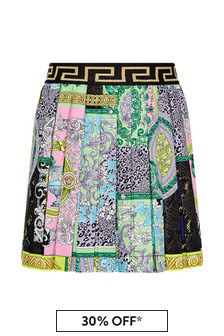 Girls Multicolour Cotton Skirt