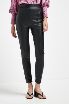 Black Faux Leather Comfort Leggings