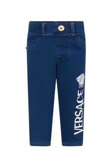 Versace Baby Boys Blue Cotton Jeans