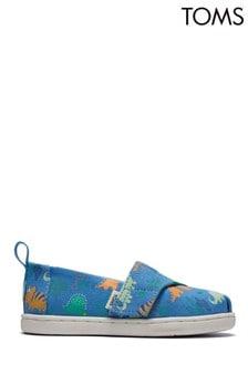 Toms Azure Blue Glow In The Dark Dinoland Alpargata Shoes