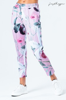 Hype. Womens Pink Blush Floral Joggers