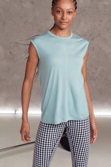 Blue Seam Detail Yoga Top