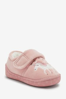 Pink Unicorn Cupsole Slippers