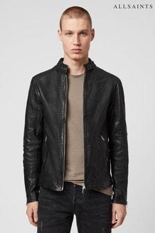 AllSaints Black Cora Leather Jacket