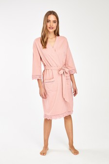 Pink Organic Cotton Robe