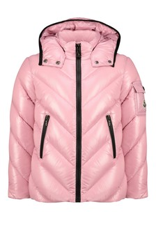 Girls Dark Pink Down Padded Brouel Jacket