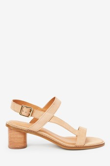 Camel Leather Casual Sandals