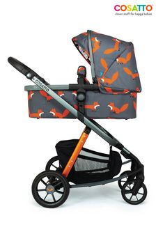 Charcoal Mister Fox Giggle Quad Pram and Pushchair by Cosatto