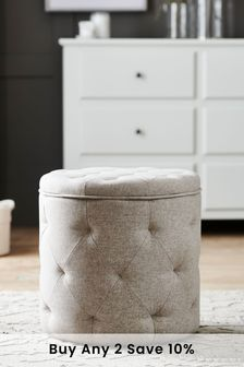 Wool Blend Stone Hartford Stool