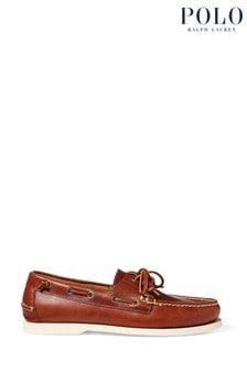 Polo Ralph Lauren Tan Merton Leather Loafers