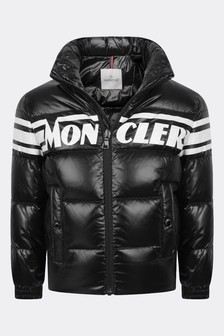 Boys Black Down Padded Saise Jacket
