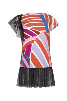 Emilio Pucci Baby Girls Orange Cotton Dress
