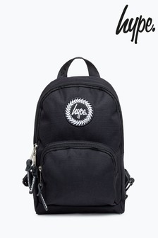 Hype. Black Cross Body Backpack