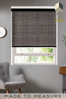 Scribble Gunmetal Black Made To Measure Roller Blind by Orla Kiely