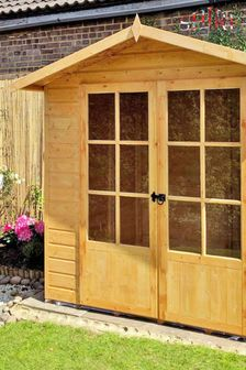 Lumley 7 ft x 5 ft Summerhouse Assembled By Shire