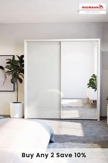 White-mirror Peyton  Large Sliding Wardrobe