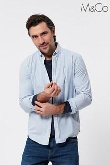 M&Co Men Blue Oxford Stripe Shirt