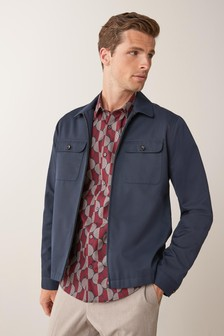 Navy Shacket Suit: Jacket