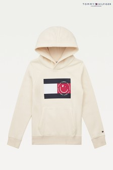 Tommy Hilfiger White Flag Smile Hoody