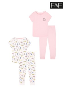 F&F Pink Tiger 2 Pack Pyjamas