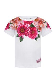 Dolce & Gabbana Baby Girls Pink Cotton T-Shirt