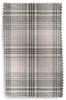 Nevis Grey Versatile Check Fabric By The Roll
